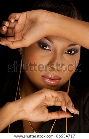 Beautiful woman of African ancestry - stock photo