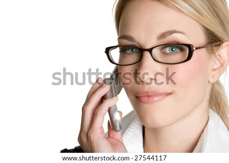 Beautiful Woman on Phone