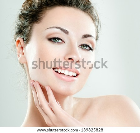 beautiful   woman . perfect skin - stock photo