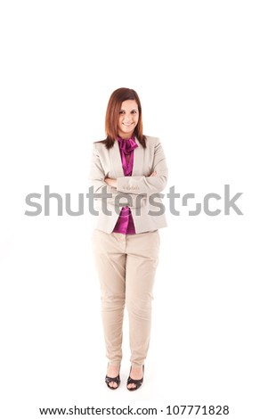 Beautiful woman posing - stock photo