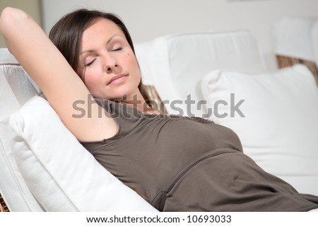 beautiful woman relaxing
