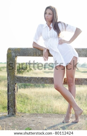 Beautiful woman relaxing - stock photo