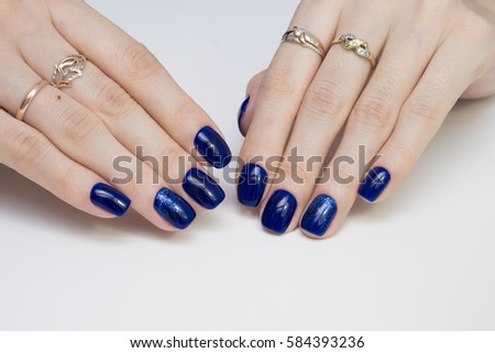 Beautiful Womans Hands Natural Nails Manicure Stock Photo (Royalty ...