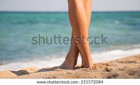 Beautiful woman's legs - stock photo