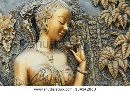 Beautiful woman sculptural form. - stock photo