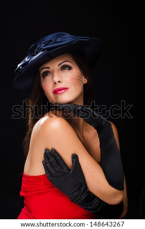 Beautiful woman wearing a hat and smiling