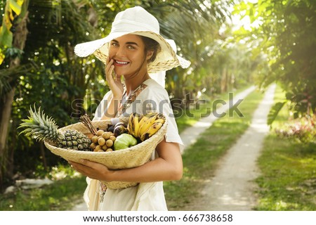 Teen Girl Picking Vegetable Marrow Field Stock Photo 88430338 Shutterstock
