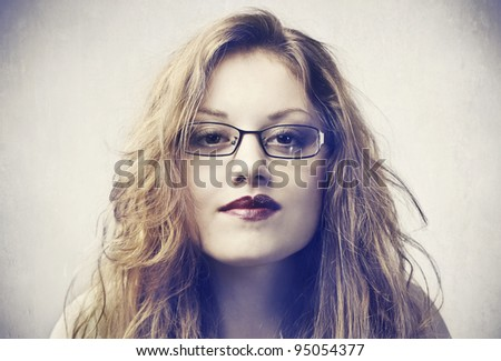 Beautiful woman wearing eyeglasses