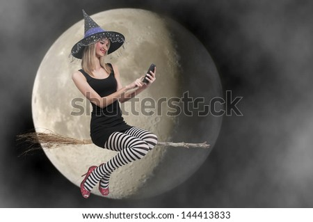 Beautiful woman wicked witch with ruby shoes