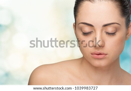 Beautiful woman with clean face