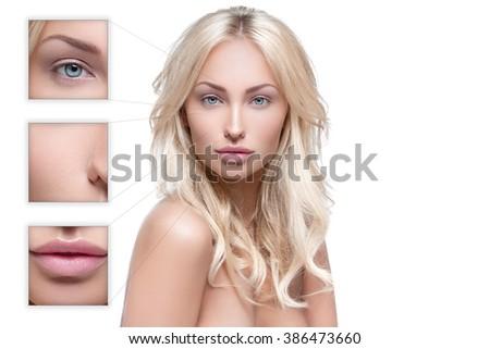 Beautiful woman with perfect skin - stock photo