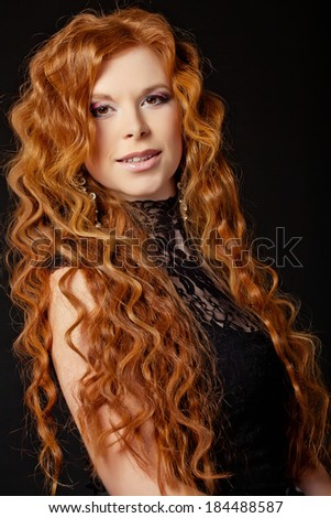 Beautiful woman with red hair