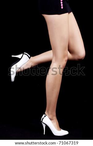 beautiful women legs - stock photo