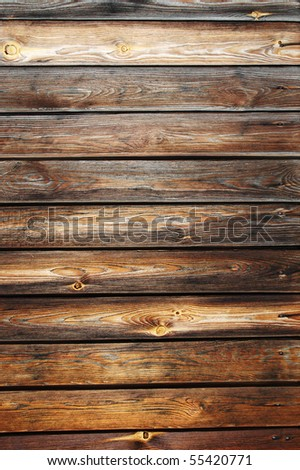 Beautiful wooden fence texture close-up - stock photo