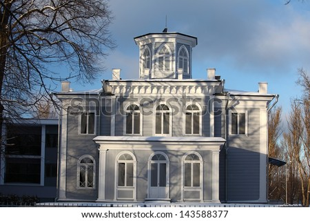 Beautiful wooden historical house in Kadriorg area, Tallinn, Estonia