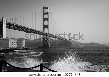 Beautiful 75-year old. The 75 th anniversary of the opening of Golden Gate Bridge will be celebrated on May 27, 2012. - stock photo