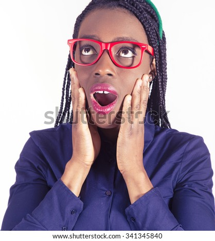 beautiful young African bussines woman - stock photo