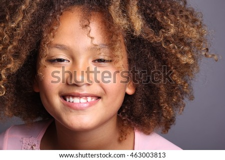 Beautiful young afro girl