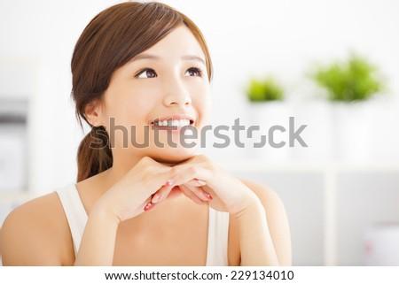 beautiful Young  asian woman  - stock photo