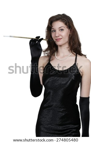 Beautiful young attractive woman movie star modeling a pose - stock photo