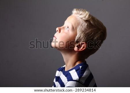 Beautiful young boy - stock photo
