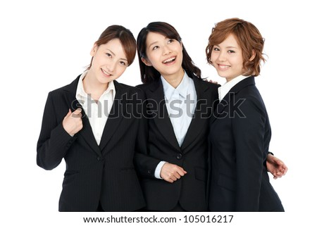 Beautiful young business woman. Portrait of asian.