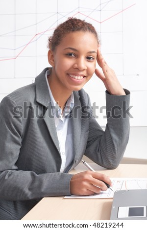 Beautiful young businesswoman - stock photo