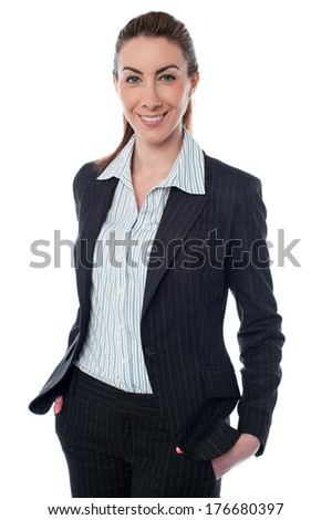 Beautiful young businesswoman with confident smile