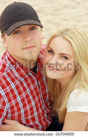 Beautiful young couple outdoors