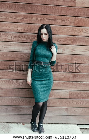 Beautiful Young Fashion Thin Pale Gothic Stock Photo (Safe to Use ...