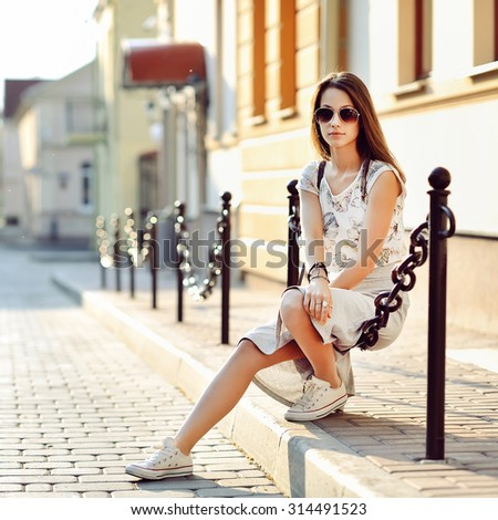 Beautiful young girl outdoor portrait
