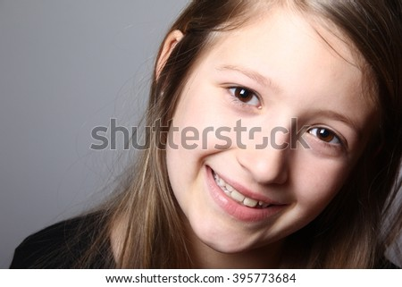 Beautiful young girl posing