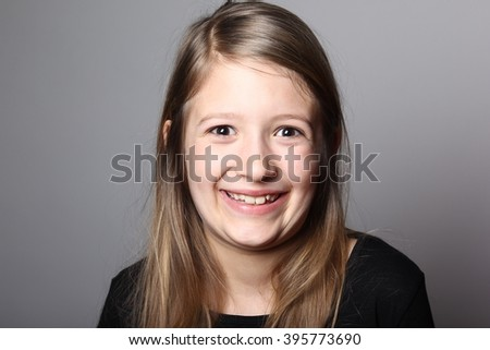 Beautiful young girl posing - stock photo