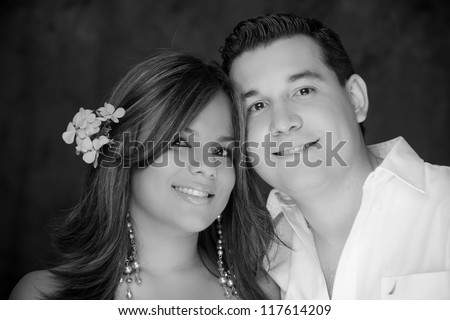 beautiful young happy couple love smiling