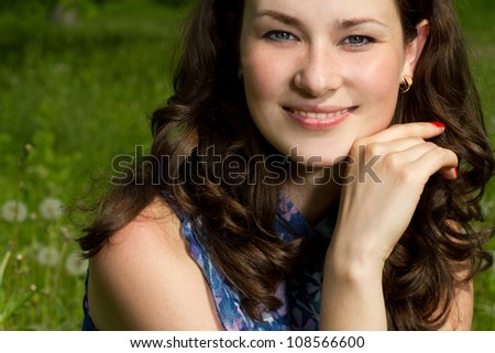 Beautiful young happy woman