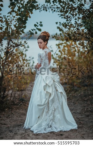 Beautiful Young Lady Gorgeous Vintage White Stock Photo (Edit Now ...