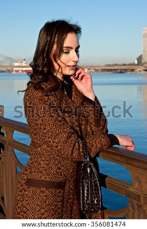 Beautiful young multicultural woman outdoor portrait - stock photo