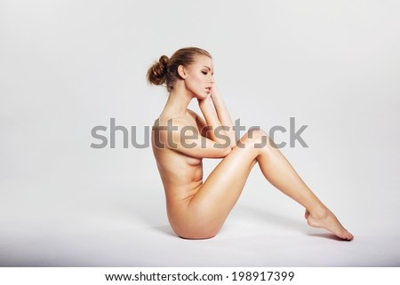 Background naked woman