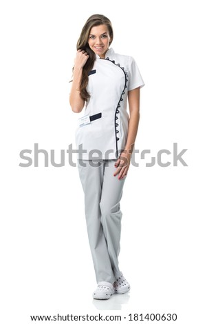 Beautiful young nurse portrait