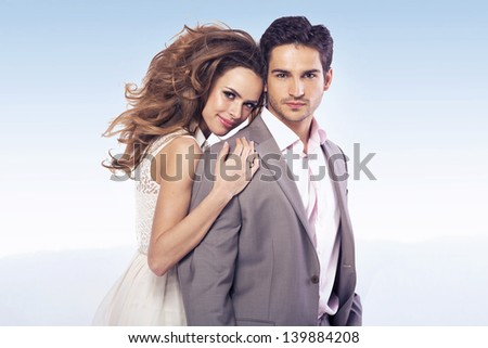 Beautiful young people - stock photo