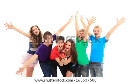 Beautiful young people of the new generation. - stock photo
