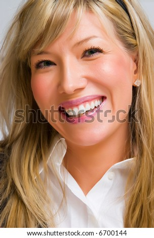Beautiful young smiling successful business woman