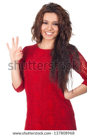 Beautiful young teenage, with good taste - stock photo