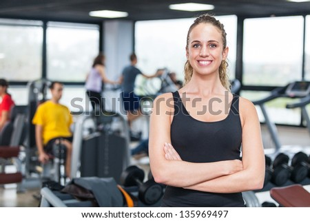 Beautiful Young Woman at Gym