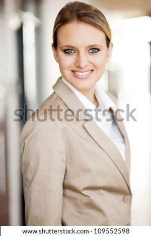 beautiful young woman in suit - stock photo