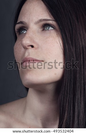 Beautiful young woman portrait.Headshot portrait of gorgeous sensual girl