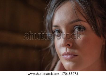 Beautiful Young Woman, Rural Life