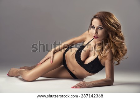 Beautiful young woman with amazing body  - stock photo