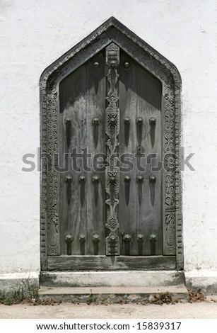 beautiful Zanzibar door - stock photo