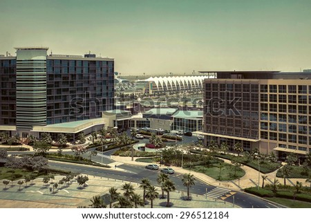 Beautifull view on Abu Dhabi. - stock photo